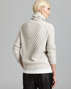 Vince Sweater - Textured Cable Turtleneck | Bloomingdale's