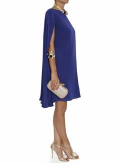 Bgo & me: Vestido de seda azul noche con capa Gown, attire,evening dress