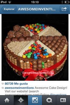 Esta torta es muy rica es de didtintos tipos de caramelos!