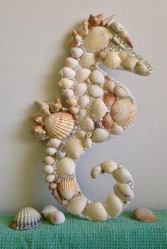 Shell covered seahorse I made