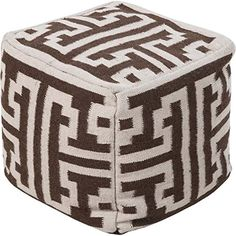 Smithsonian by Surya POUF-31 Hand Made 80% Wool / 20% Cotton Tan 18