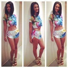 jumpsuit bgc bgc12 high heels bad girls club model slim hair flowered ...