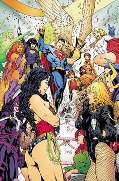 JLA WEDDING SPECIAL #1//Ed Benes/B/ Comic Art Community GALLERY OF COMIC ART