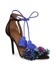 Malone Souliers   Blue Gladys Multicolor Embroideries Sandals   Lyst € 825,00