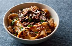 A recipe for jackrabbit or hare in a classic Tuscan pasta sauce served with homemade pappardelle pasta.