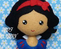 Patrón de costura PDF para hacer fieltro muñeca por Kosucas en Etsy