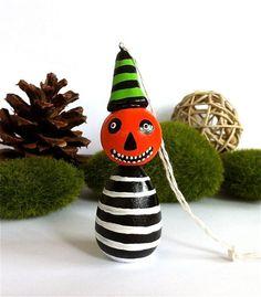 Mr Pumpkin Man Halloween Ornament. halloween pendants  #pendant #halloween www.loveitsomuch.com