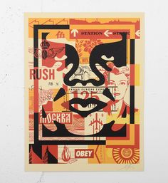 Buy online, view images and see past prices for SHEPARD FAIREY - OBEY 'Giant 3 Face Collage' H/S Lithograph. Invaluable is the world's largest marketplace for art, antiques, and collectibles. Protest Kunst, Protest Art, Face Collage, Collage Art, Art Obey, Obey Wallpaper, Shepard Fairey Art, Shepard Fairy, Pop Art