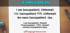 introduce yourself in korean