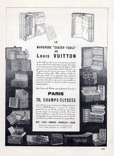 Louis Vuitton (Luggages) 1922 Wardrobe Casier-Table