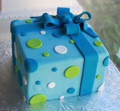 Polka Dot Present Cake (except without polka dots)