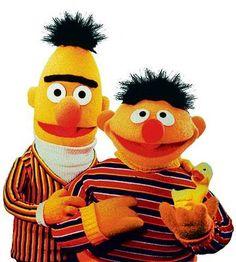 Bert is smiling!