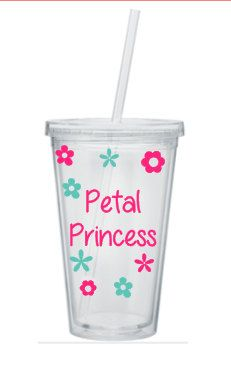 Flower Girl Tumbler, Petal Princess, Flower Girl Cup, Flower Girl Gift, Personalized Flower Girl Tumbler, Jr Bridesmaid Tumbler by SiplySophisticated on Etsy