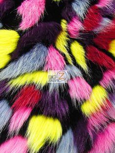 FAUX FAKE FUR ANIMAL SHORT PILE COAT COSTUME FABRIC - Tribal 1 - BY YARD COAT #BIGZFABRIC
