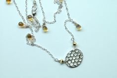 #Sweet Honeycomb and Citrine...   #citrine #necklace  Repin, Like, Share!  Thanks!