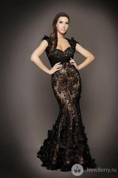 Mac Duggal Couture Dresses. Embroidered black lace. Lovely!