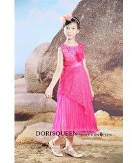 Stereo flower Bead piece flower girl dress H001