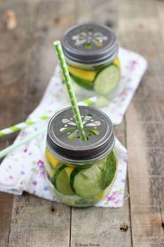 Ribes e Cannella: Acqua detox (cetriolo, limone, zenzero e menta )