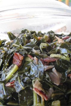 "Kickin' Collard Greens | ""I'm from the South and these are THE BEST collards. I've impressed both of my Southern grandmothers with this recipe and have even impressed a few Yankees!"" #allrecipes #newyears #newyearday #newyearsdayrecipes #lucky #luckyfood #luckyrecipes #goodluckfood #foodforgoodluck"