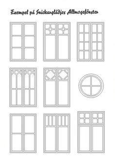 Autocad, Wood Windows, Windows And Doors, Hotel Floor Plan, House Template, Paper Houses, Window Design, Architecture, Interior Design Living Room