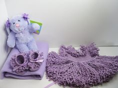 AMERICAN GIRL BITTY BABY EASTER OUTFIT HANDMADE CROCHET WITH BUNNY, NO DOLL #AmericanGirl #ClothingShoes