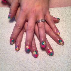 Supernail progel gel polish jigsaw nail art