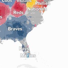 A Map of Baseball Nation - NYTimes.com