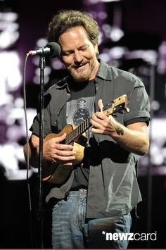 "Eddie Vedder performs at ""An Evening Celebrating The Who with Pete Townshend and Eddie Vedder"" at Rosemont Theatre on Thursday, May 14, 2015, in Rosemont, Illinois. (Photo by Rob Grabowski/Invision/AP)"