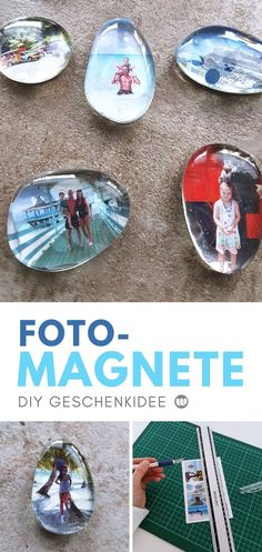 Personalize Photo Magnets: Fast DIY Photo Gift- Fotomagnete selbst gestalten: Schnelles DIY Fotogeschenk Tinker Diy Fridge Magnets: Make a simple crafting tutorial for the Fridge Magnet yourself. A fast DIY photo gift idea with WOW effect as a gift - Cricut Projects To Sell, Diy Crafts To Sell, Diy Crafts For Kids, Home Crafts, Diy Projects, Sell Diy, Kids Diy, Decor Crafts, Easy Crafts