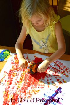 In Lieu of Preschool: Move Over Stampin' Up! We've Made Our Own Rolling Stamp and it's a {MUST SEE!}