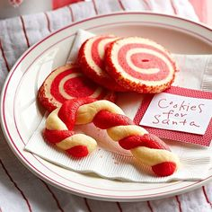 Peppermint extract infuses these crisp, buttery cookies with holiday flavor. Choose between slice-and-bake swirls or candy-cane shape cookies. Christmas Sweets, Christmas Cooking, Noel Christmas, Holiday Cookies, Holiday Baking, Christmas Desserts, Christmas Recipes, Holiday Treats, Christmas Goodies