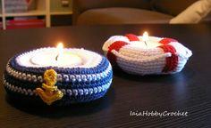Two Amigurumi Tea Light Candle Holders Crochet por IaiaHobbyCrochet