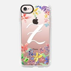 Watercolor Flower Letter Z by imushstore - Snap Case