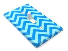 Tone Blue Chevron Light Switch Cover Switchplate by ModernSwitch, $12.00