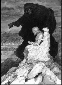 Morgoth Shows Hurin His Children's Destruction by Denis Gordeev