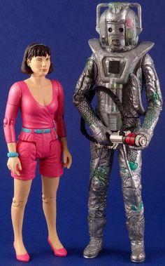 64. Attack of the Cybermen set: contains Peri and Rogue Cyberman (with gun and removable face showing exposed human remains)