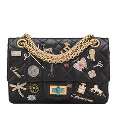 Chanel Black Reissue 2.55 Lucky Charm Bag