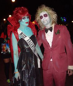 Halloween couple costume - Beetlejuice & Miss Argentina OMG @Erin B Redfern Our favorite movie! and I always wanted to dress up as her!