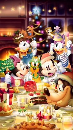 iPhone and Android Wallpapers: Mickey and Friends Christmas Wallpaper for iPhone. - iPhone and Android Wallpapers Disney Frozen, Walt Disney, Mickey Mouse Christmas, Mickey Mouse And Friends, Disney Merry Christmas, Christmas Friends, Christmas Trees, Christmas Decor, Mickey Mouse Wallpaper