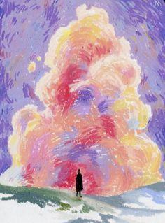 Oil Pastel Paintings, Oil Pastel Art, Oil Pastel Drawings, Oil Pastels, Horse Paintings, Crayon Drawings, Art Drawings, Oil Pastel Landscape, Arte Fashion