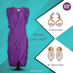 The colour 'Purple' is associated with royalty! Which earring would you pick to enhance your royal outfit? View more:http://bit.ly/2hPUblT #NewYearNewU #BeAShowStopper