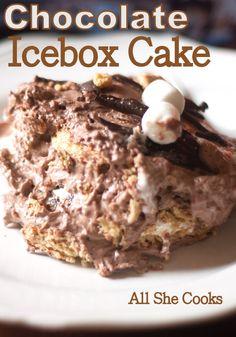S'mores Icebox Cake | www.allshecooks.com | #nobake