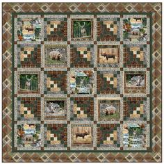 Michael Miller Wild Thing Cabin In The Woods Quilt Kit