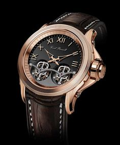 Cecil Purnell V15 Twin Tourbillon - gold