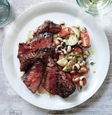 Seared Hanger Steaks With Black-Eyed Pea and Tomato Salad