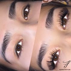 Classic eyelash extensions - L plus curls Follow Ig @flutterwithflair for more pictures!