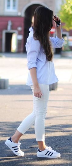 Quintessence Of Beauty Adidas Sneakers Sporty Outfit Idea