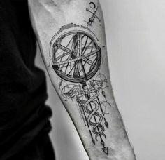 By Balazs Bercsenyi | NY | #BlackworkTattoo #Tattoo #Blackwork #GeometricTattoo #Alchemy