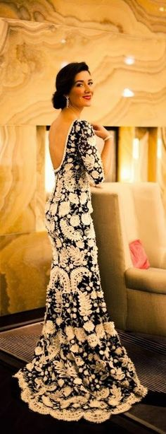 Outstanding long gorgeous dress. Yes ladies this would be a gorgeous alternative to a traditional white wedding gown