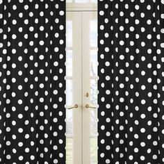 Sweet Jojo Designs Hot Dot Polka Dot Window Panel Pair    these could work ... but are a larger dot. I'd prefer smaller